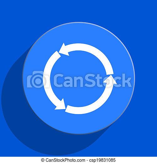 refresh blue web flat icon - csp19831085