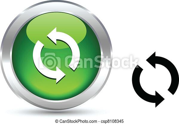 Refresh button. - csp8108345