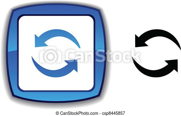 Refresh button. - csp8445857
