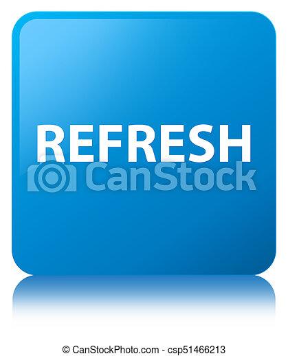 Refresh cyan blue square button - csp51466213