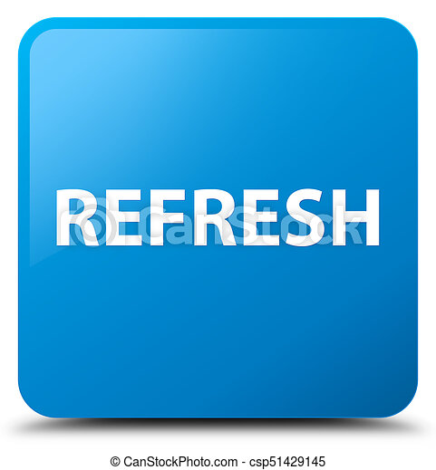 Refresh cyan blue square button - csp51429145