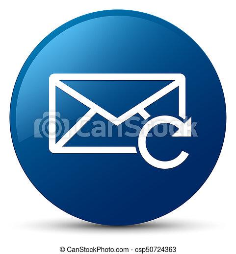 Refresh email icon blue round button - csp50724363