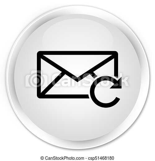 Refresh email icon premium white round button - csp51468180