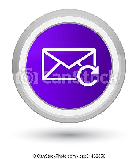 Refresh email icon prime purple round button - csp51462856