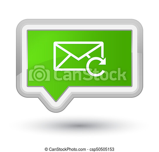 Refresh email icon prime soft green banner button - csp50505153