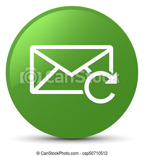 Refresh email icon soft green round button - csp50710512