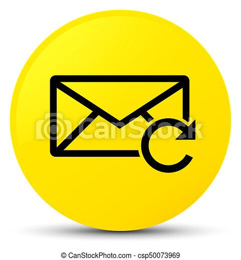 Refresh email icon yellow round button - csp50073969