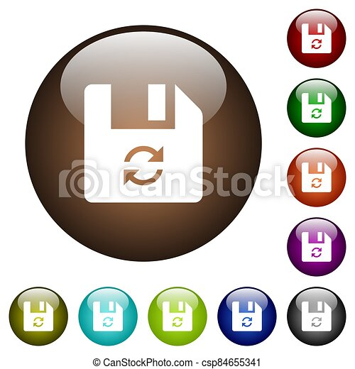 Refresh file color glass buttons - csp84655341