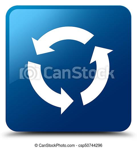 Refresh icon blue square button - csp50744296