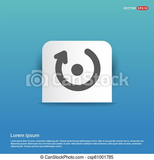 Refresh icon - Blue Sticker button - csp61001785