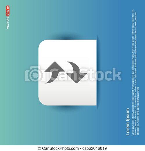 Refresh Icon - Blue Sticker button - csp62046019