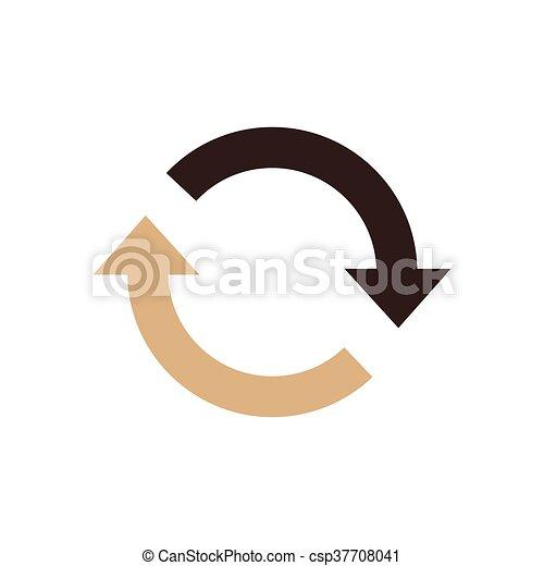 Refresh Icon brown color - csp37708041