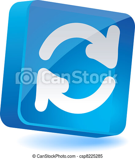 Refresh Icon. - csp8225285