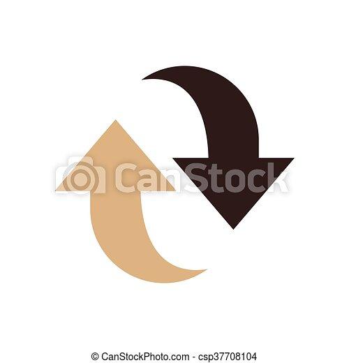 Refresh Icon design brown color - csp37708104