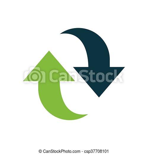 Refresh Icon design green - csp37708101
