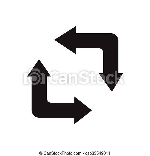 refresh icon design - csp33549011