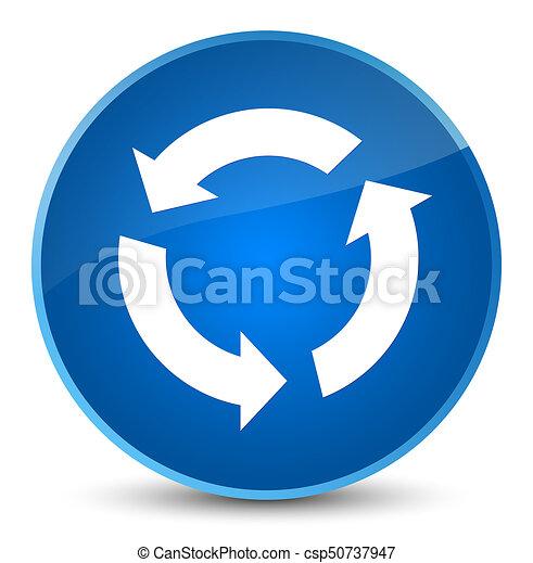 Refresh icon elegant blue round button - csp50737947