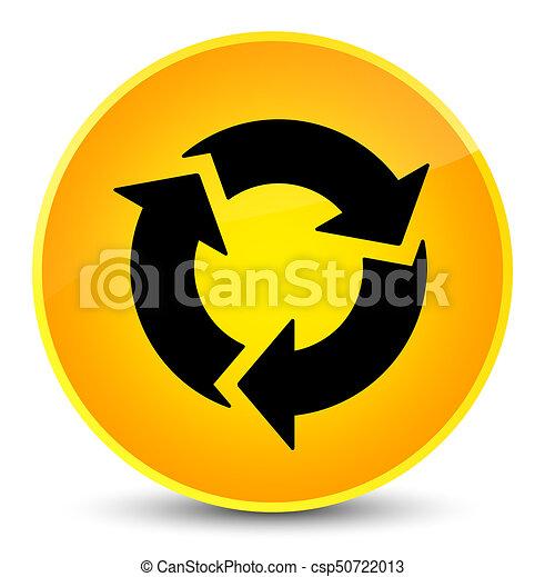 Refresh icon elegant yellow round button - csp50722013