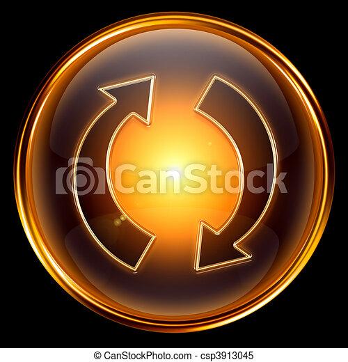 refresh icon golden. - csp3913045