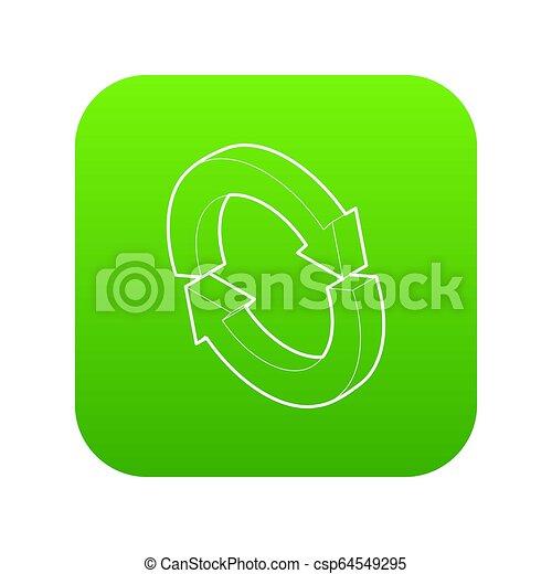 Refresh icon green - csp64549295