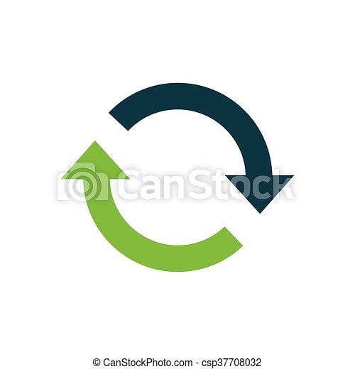 Refresh Icon green - csp37708032