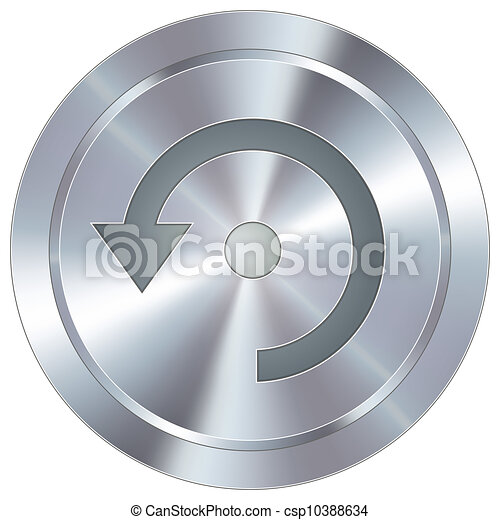 Refresh icon on industrial button - csp10388634