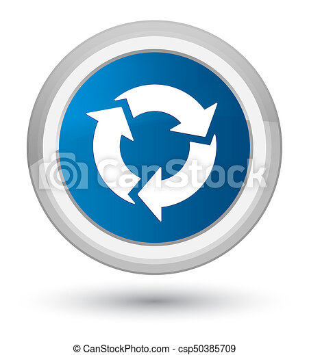 Refresh icon prime blue round button - csp50385709