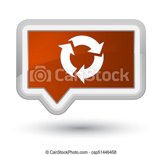 Refresh icon prime brown banner button - csp51446458