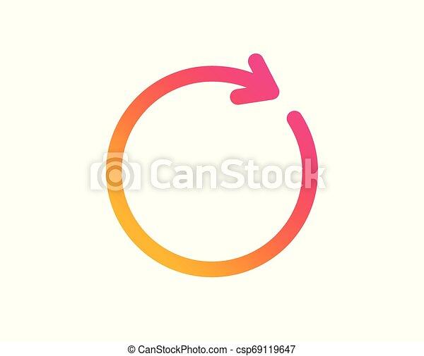 Refresh icon. Rotation arrow sign. Vector - csp69119647