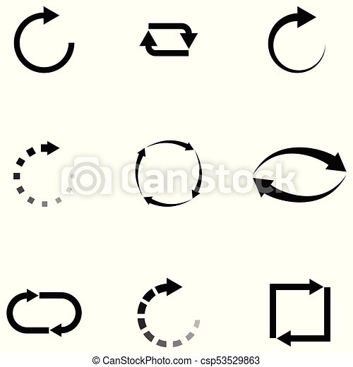 refresh icon set - csp53529863