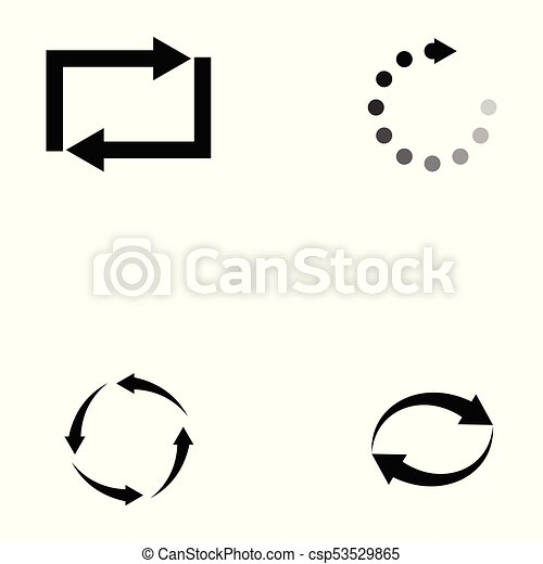 refresh icon set - csp53529865