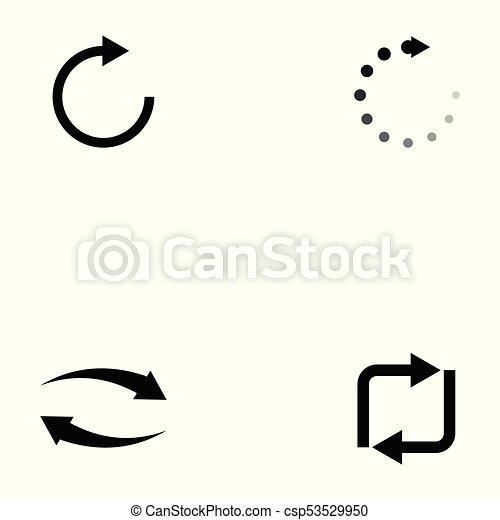 refresh icon set - csp53529950