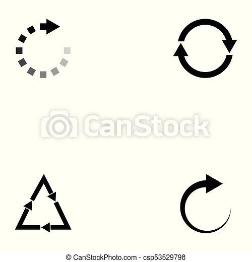 refresh icon set - csp53529798