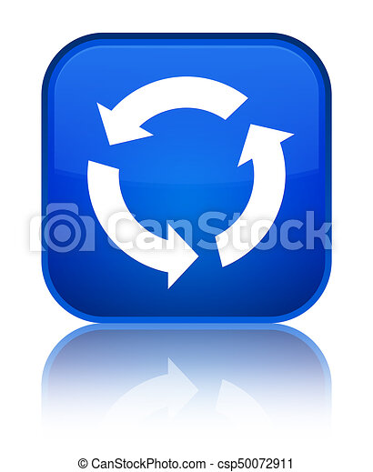 Refresh icon special blue square button - csp50072911