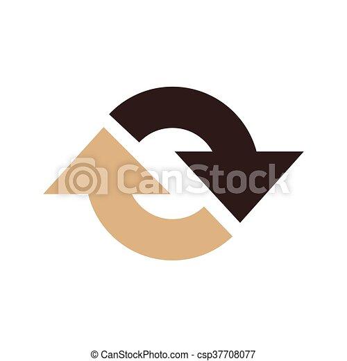 Refresh Icon vector brown color - csp37708077