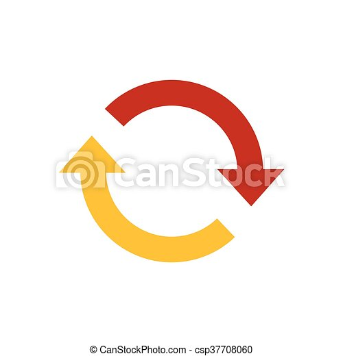 Refresh Icon yellow and red color - csp37708060