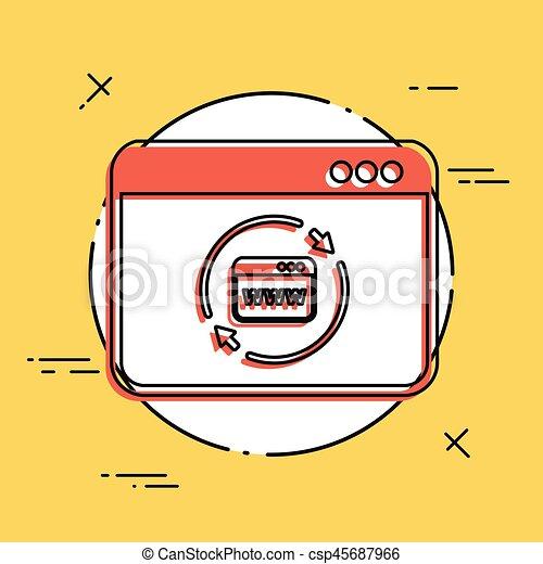 Refresh internet page icon - csp45687966