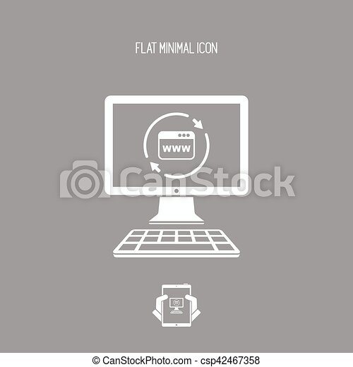 Refresh internet page icon - csp42467358