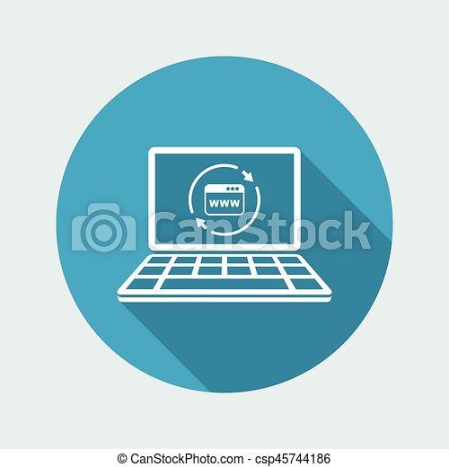Refresh internet page icon - csp45744186
