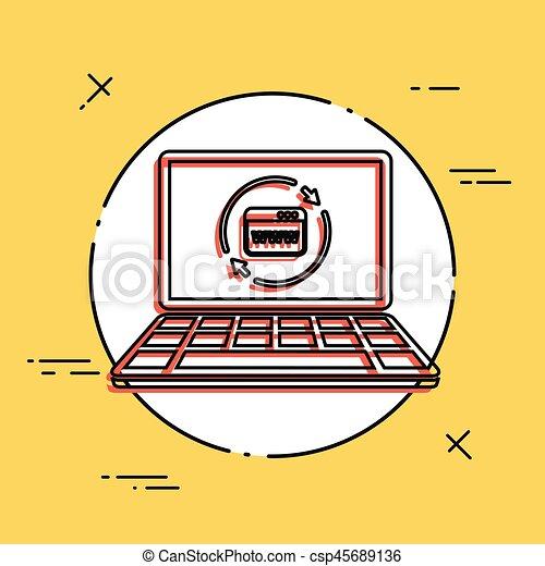 Refresh internet page icon - csp45689136