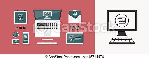 Refresh internet page icon - csp45714476
