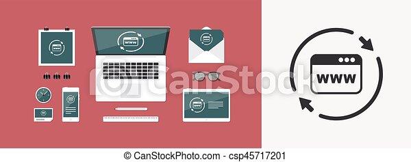 Refresh internet page icon - csp45717201