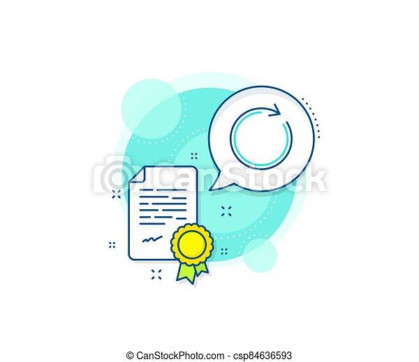 Refresh line icon. Rotation arrow sign. Vector - csp84636593