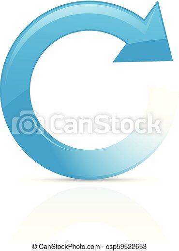 Refresh or reload symbol - blue circular arrow - csp59522653