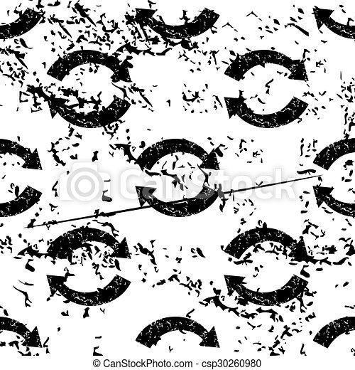 Refresh pattern, grunge, monochrome - csp30260980