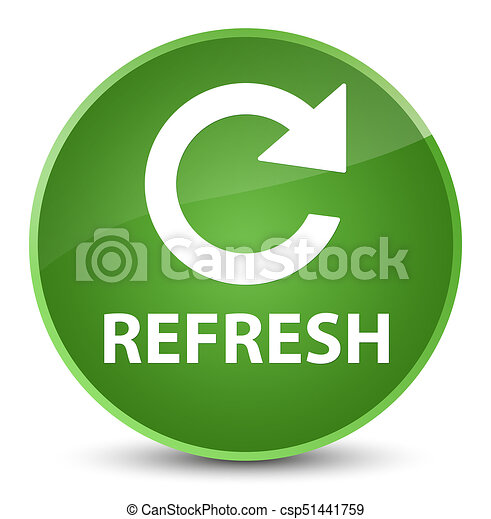 Refresh (rotate arrow icon) elegant soft green round button - csp51441759