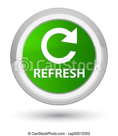 Refresh (rotate arrow icon) prime green round button - csp50515352