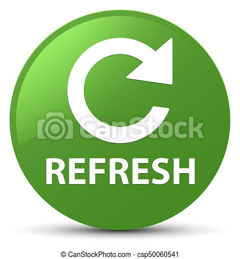 Refresh (rotate arrow icon) soft green round button - csp50060541