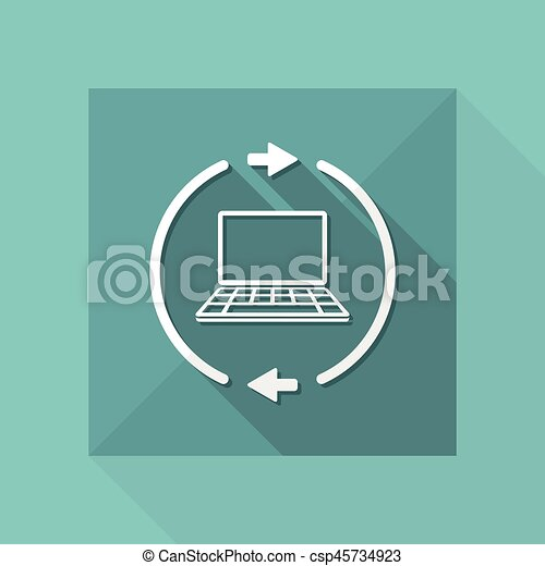 Refresh setting flat icon - csp45734923