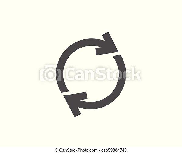 Refresh simple icon. Rotation arrow sign. - csp53884743